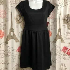 NWT Black Dress with Lace Back